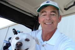 Steve Kirkpatrick and his Golf Buddy, Maggie